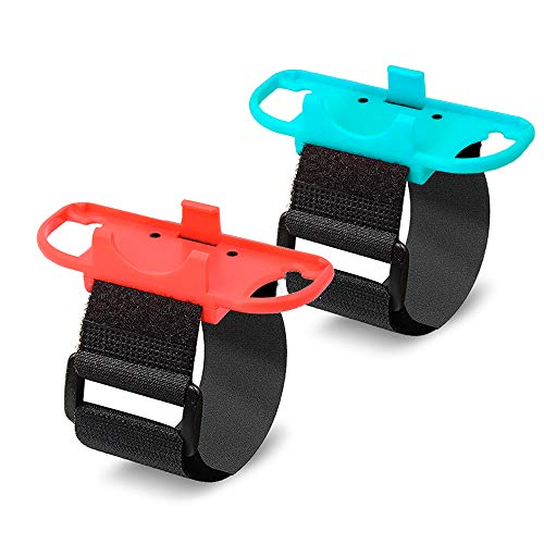 [2 Pack] Orzero Just Dance Adjustable Wristbands Set Compatible for Nintendo Switch Joy-Con Controllers Gamepad with Adjustable Hook&Loop Strap