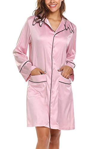 Goldenfox Pink Loungewear for Girls Cat Head Shape Collar Long Sleeve Autumn Nightdress (Pastel Pink, - Shape Cat Head