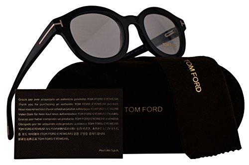 Tom Ford FT5460 Eyeglasses 49-23-145 Shiny Black 001 - Frames Glasses Tom Round Ford