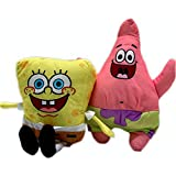 Spongebob 10 Inch and Patrick 11 Inch Stuffed Plush Doll Toy Set