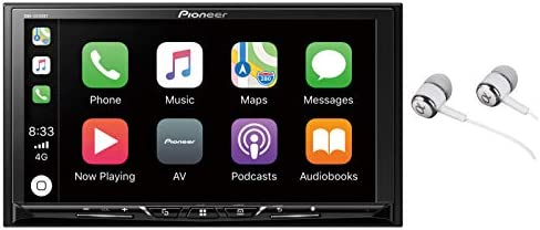 Pioneer DMH-Z5150BT 7 WVGA Display, Apple CarPlay, Android Auto, Built-in Bluetooth, AppRadio Mode, Pandora, Spotify, MIXTRAX, USB AUX Digital Multimedia Video Receiver with ALPHASONIK EARBUDS