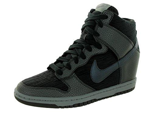 Nike Women's Dunk Sky Hi Black/Mtlc Hematite/Blk/Cl Gry Casual Shoe 10 Women US