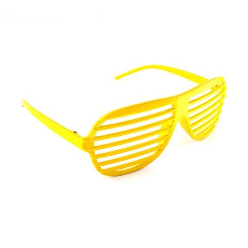 Shutter Shades / Novelty Fun Shades Neon - Yellow Shades Shutter