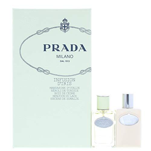 Prada Infusion Diris Gift Set (Prada Infusion D'Iris Gift Set 1.7oz (50ml) EDP + 3.4oz (100ml) Body Lotion)