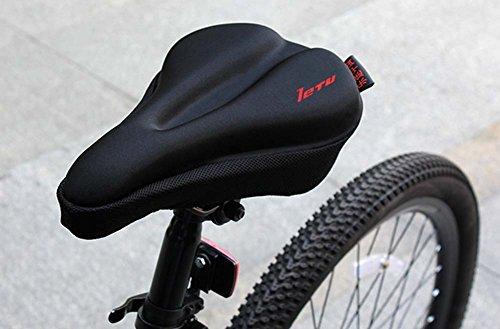 Hochwertige Silikon-Mountainbike-Sattel Fahrrad-Sattel, Schwarz
