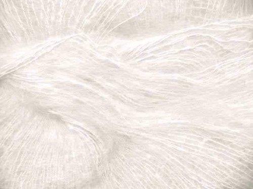 Mohair Silk Yarn - Rowan Kidsilk Haze 612 White