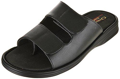 Medifoot Present Ortho & DiaCare Mens Black Synthetic Sandals(THN_3098 UK)