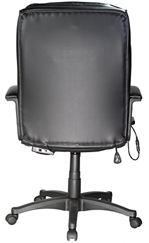 046854166615 - Comfort Products 60-6810 Leather Executive Chair with 5-Motor Massage, Black carousel main 3