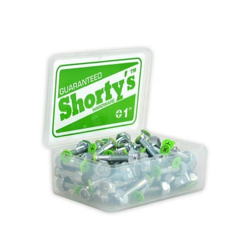 Shorty's Skateboard HARDWARE 1 in Phillips GREEN COLOR TIPS 8pcs Nuts & Bolts