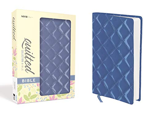 NIV, Quilted Collection Bible, Imitation Leather, Blue, Red Letter Edition
