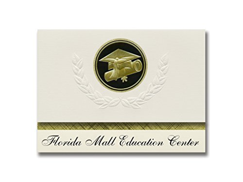 Signature Announcements Florida Mall Education Center (Orlando, FL) Graduation Announcements, Presidential style, Elite package of 25 Cap & Diploma Seal. Black & ()