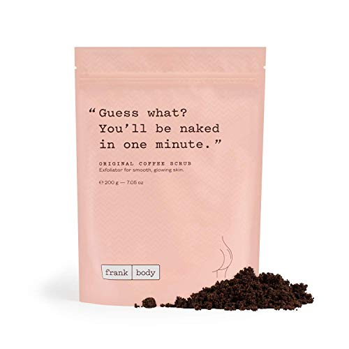 Frank Body Original Coffee Scrub, 7.05oz   Natural & Cruelty Free Exfoliating Body Scrub   Hydrating Vegan Scrub Skin…