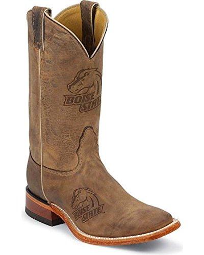 Nocona Boots Men's Boise State Boot,Tan Vintage Cow,10 D (Cow Western Boots)