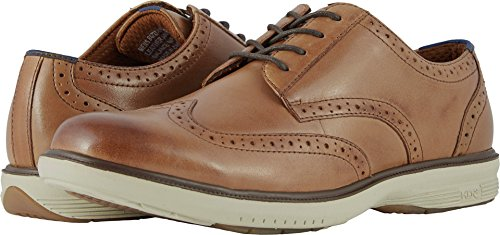 Nunn Bush Mens Maclin St. Wing Tip Oxford Camel Multi 12 M (D)