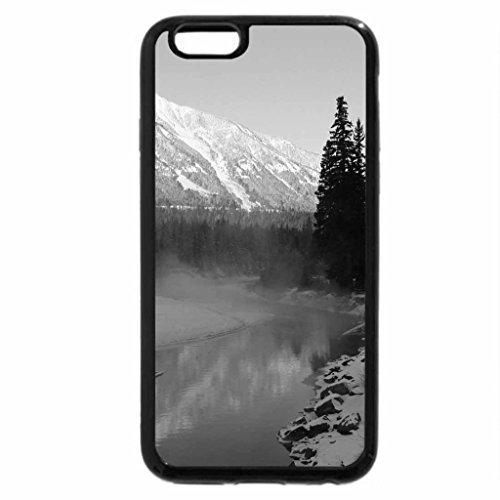 iPhone 6S Plus Case, iPhone 6 Plus Case (Black & White) - fording river in elkford british columbia