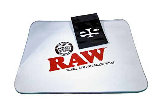 RAW Glass Rolling Tray - Limited Edition Large from RAW Rolling Papers by RAW, ES Distributions