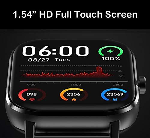 V2A Smartwatch Men's Watch (Black Dial Black Colored Strap)