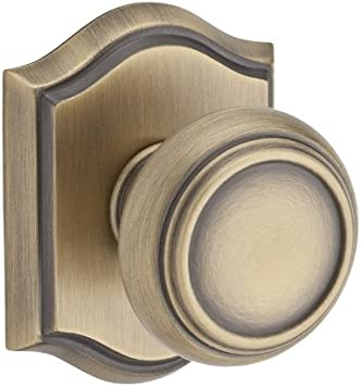 Baldwin PVFEDTAR049 Reserve Privacy Federal with Traditional Arch Rose Matte Brass /& Black Finish