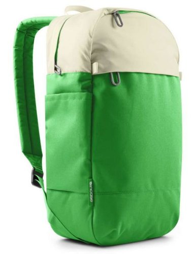 Incase Campus Compact Backpack in Off White/Kelly Green- CL55467