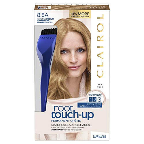 Clairol Nice 'n Easy Root Touch-Up, 8.5A Medium Champagne Blonde, Permanent Hair Color, 1 Kit (PACKAGING MAY - 8.5a Champagne