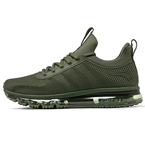 ONEMIX Air Cushion Sports Running Casual Walking Sneakers Shoes for Men and Women DarkGreen 6.5B(M)...