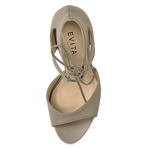 Evita Shoes - Sandalias de vestir de Piel para mujer Beige - beige