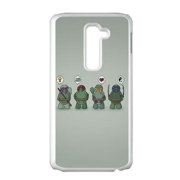 LG G2 Cell Phone Case White Ninja Turtles Vector Pgflj ...