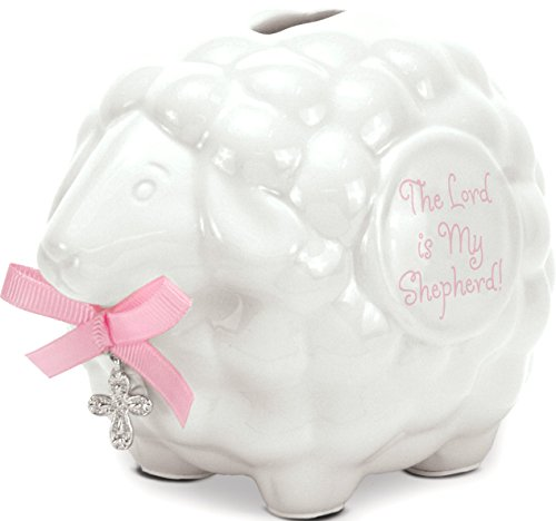 Brownlow Kitchen Lamb Bank with Scripture, Baby Girl (Congratulations Baby Gifts)