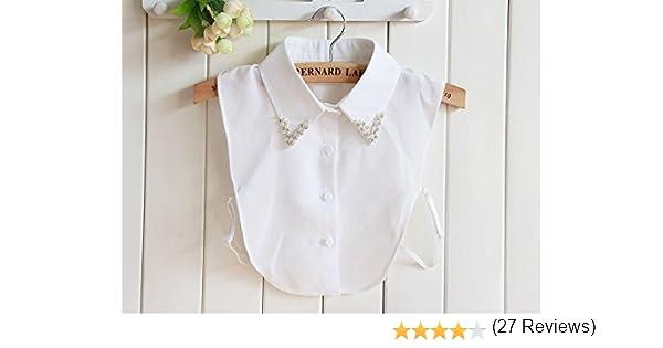 yulakes Fashion cuello Vintage elegante mujer mitad Fake cuello falso blanco camisa blusa cuello desmontable media camisa (estilo 2): Amazon.es: Hogar