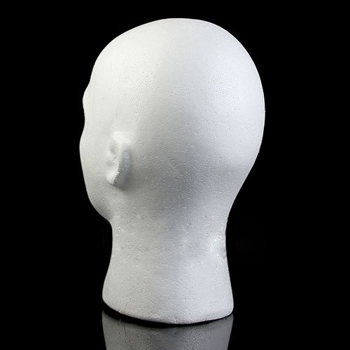 Connoworld Male Styrofoam Foam Head Model Professional Bald Manikin Mannequin Head Hat Wig Hair Jewelry Headset Glasses Display Stand Tool White by Connoworld (Image #4)