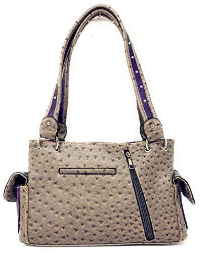 Premium en sac en Bible à Croix strass cachés couleurs porter pierre verset Purple portefeuille multi main w7R7qI8