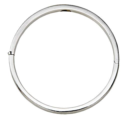 LooptyHoops Sterling Silver Classic Square-Edged Hinged Bangle Bracelet, 66mm (5mm Thick) ()