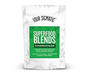 Four Sigma Foods Winning-X Blend Superfoods, Mushroom, 1.76 Ounce