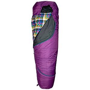 Kelty Girls TRU Comfort 20 Degree Sleeping Bag, Dahlia/Multi-Plaid