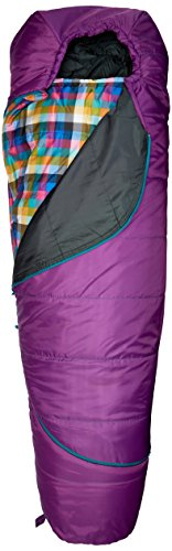 Kelty Girls TRU Comfort 20 Degree Sleeping Bag, Dahlia/Multi-Plaid