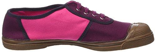 Bensimon Old School Colored, Baskets Basses Femme Violet (Prune)