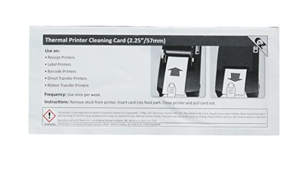 Amazon.com : Thermal Printer Cleaning Card 2.25