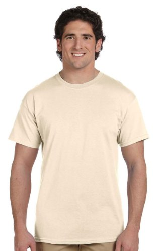 Fruit of the Loom 100% Heavy Cotton T-Shirt, Natural, XL ( Pack2 )