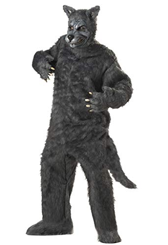 Men'S Big Bad Wolf Holiday Party Costume (Grey;One Size) (Standard)]()