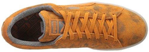 Sneaker Da Uomo Classico In Pelle Scamosciata Classica Bruciata Arancione