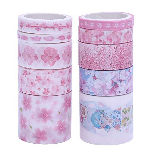 SODIAL 10Pcs/Lot Cute Masking Washi Tape Set Stationery Kawaii Scrapbooking Supplies Sticker Cherry -