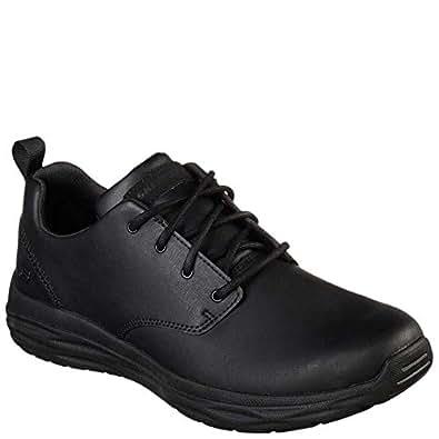Skechers 65624 Men's Harsen-Rendo Oxford Shoe, Black - 11.5 D(M) US