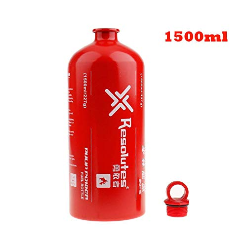Lixada Fuel Bottle Petrol Alcohol Liquid Gas Oil Bottle Outdoor Camping No-Leak Safety Gas Can Oil Container Extra Emergency Backup Fuel Tank 500ML / 750ML / 1000ML / 1500ML (A List Of Solids Liquids And Gases)