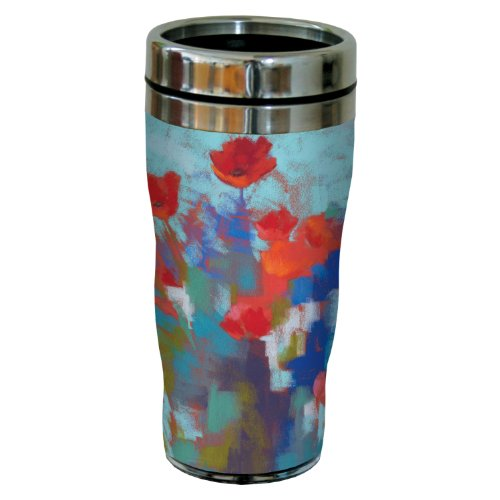 Tree-Free Greetings sg23736 Poppies in The Wind by Nel Whatmore Travel Tumbler, 16-Ounce