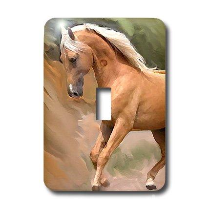3dRose LLC lsp_4799_1 Palomino Horse, Single Toggle Switch