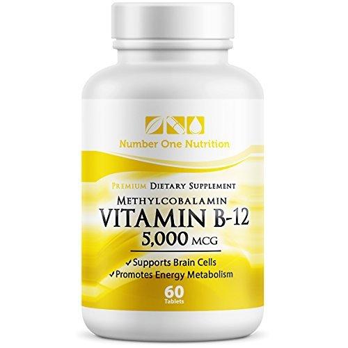 Number One Nutrition Vitamin B12 Methylcobalamin 5000 mcg, 60 Count