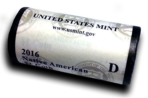2016 D Native American Sacagawea Original Unopened US Mint Roll Brilliant Uncirculated