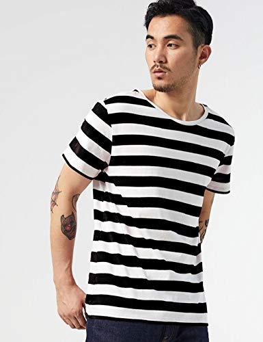 f3568a7e7a48c8 Zbrandy Striped T Shirt for Men Sailor Tee Red White Black Blue Stripes Top  Summer Beach