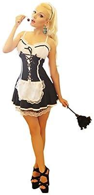 Sexy Maid costume Including head-dress, Dress, Armband Fancy Dress Party Halloween