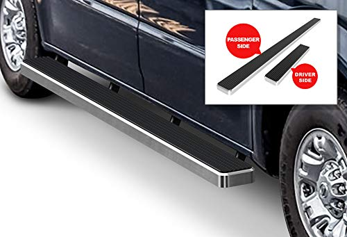 APS iBoard Running Boards (Nerf Bars Side Steps Step Bars) Compatible with 2012-2019 Nissan NV 1500 2500 3500 Full Size Van (Silver Powder Coated 5 inches) (Best Tube Mods 2019)